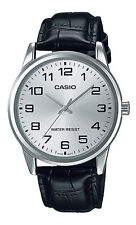 Casio MTP-V001L-7B Men's Standard Analog Leather Band Easy Reader 3-Hand Watch