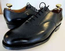 Hand Made All Leather Black Oxford Cap Shoes UK 8 EU 42 US 9 F