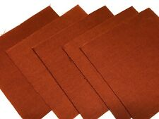 """40 5"""" Quilting Fabric Squares  PreCut Quilting Charm Pack Solid Rust"""