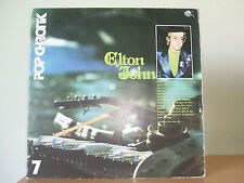 ELTON JOHN -  Pop Chronk 2LP 1970's German Compilation 87 569 XT Ex