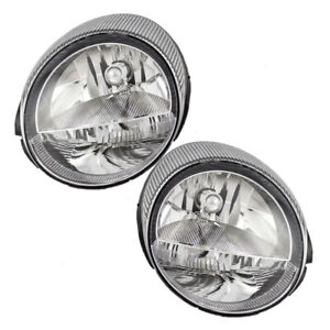 Pair Set Headlights Headlamps Housing Assembly for 2002-2005 Ford Thunderbird
