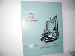 "VW VOLKSWAGEN VINTAGE ORIGINAL ""INTRODUCING THE 1961 VOLKSWAGEN"" 12 PAGES RARE"