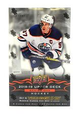 2018/19 Upper Deck Series 1 Hockey Hobby Box Factory Sealed