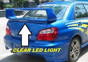 "FOR SUBARU IMPREZA SEDAN ""STI Style"" w/CLEAR LED Painted Rear Spoiler 2002-2007"