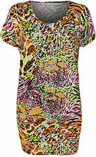 Animal Print Short Sleeve Plus Size Tops & Shirts for Women