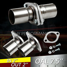 """2 1//2/"""" 2.5/"""" ID Flat Oval Two Bolts Exhaust Flange Fits 2 1//2/"""" 2.5/"""" Pipe Flanges"""