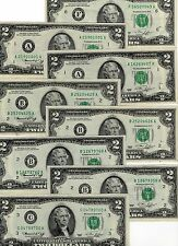 8-1976 BICENTENNIAL $ 2.00 FEDERAL RESERVE NOTES, UNITED STATES CURRENCY