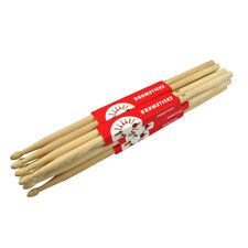 Pack of 6 Pairs 5A Hickory Wood Drumsticks Drum Sticks Oval Tip Sticks