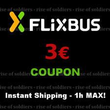 ➤2x3€ Coupon FlixBus - Shipping in 1h! - Gutschein Bus Discount Voucher