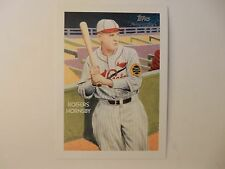 2010 Topps National Chicle Painted Cabinet Card Of Cardinals Rogers Hornsby