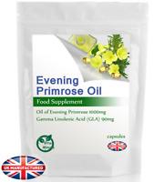 Evening Primrose Oil 1000mg Capsules (High Strength, Cold Pressed, High GLA) UK