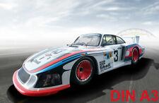 Cult Car Art Porsche 935 Moby Dick  #43, 24h Le Mans  ART-PRINT DIN A3