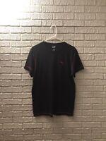 Puma Men's Black/Red Lined T-shirt Size Medium