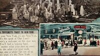 Vintage Toast New York Time Square Broadway 43rd ST. Toffenetti RPPC Postcards