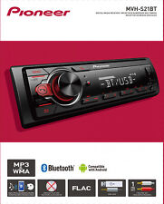 Car Audio Stereo Pioneer Dash SingleDIN Bluetooth USB AUX Digital Media Receiver