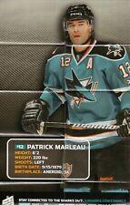 Patrick Marleau Poster--San Jose Sharks--2011-12 Pocket Schedule--Symantec