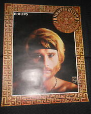 JOHNNY HALLYDAY 1969 RARE AFFICHE ORIGINALE FRENCH POSTER RIVIERE OUVRE TON LIT