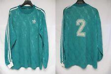 Maillot ADIDAS porté n°2 vert vintage trefoil shirt manches longues trikot L