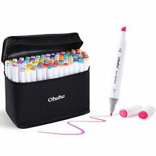 100 Colors Art Markers Set, Ohuhu Dual Tips Coloring Marker Pens for Kids