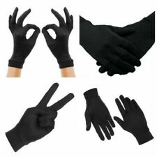 Thin Lycra Silk Liner Gloves Thermal Ski Inner Walking Cycling Motorbike BLACK