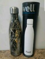 S'well Vacuum Insulated Stainless Steel Water Bottle, 17 oz, Bahamas Gold Marble