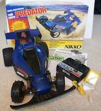 PREDATOR NIKKO 1/10 SCALE RADIO CONTROLLED R/C OFF-ROAD CRUISER CAR MANUAL & BOX