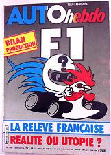 AUTO HEBDO 296 du 10/12/1981; La relève Française/ Gp de Macau/ Toyota 4 x 4