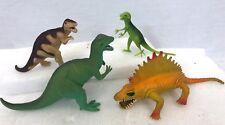 Vintage China Lot of 4 Plastic Trex Rex Allosaurus Educational Dinosaur Figures