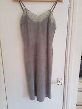 Ralph Lauren designer grey suede shift dress