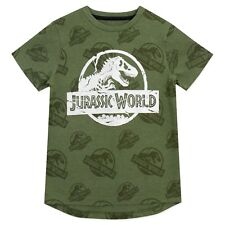 NEW Boy/'s Jurassic World Creation Lab Long Sleeved Top Grey Ages 4,6,/& 8 yrs