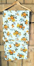 "1960s Retro Yellow Rose Barkcloth Pair of Curtains Drapes W32"" L51"""