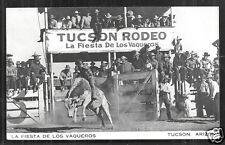 Tucson Rodeo rppc La Fiesta de Los Vaqueros Arizona 1933