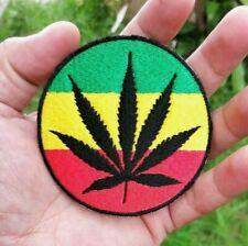 Marijuana leaf Reggae Jamaica Bob Marley symbol Embroidered Iron-On Sew-on patch