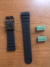 Seiko 22mm Miltat Replacement Rubber Band Strap