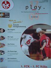 Programm 2000/01 1. FC Kaiserslautern - FC Köln