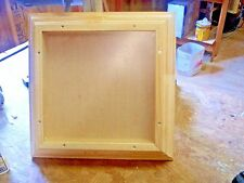 SOLID PINE 16 X 16 X 3  CROWN MOLD FRAME, SHADOW BOX, DISPLAY CASE, FRONT LOAD