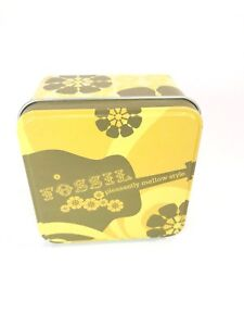 Fossil Watch Collectible Display Tin Box Pleasantly Mellow Style Yellow Guitar