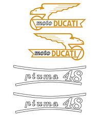 ADESIVI REPLICA DUCATI PIUMA 48 STICKERS COME GLI ORIGINALI PVC ADESIVO PER MOTO