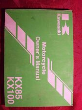 Kawasaki Owner's Manual KX85 KX100 99987-1336