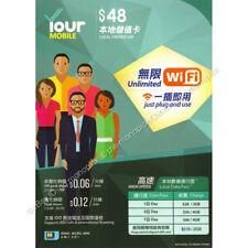 HK CSL Your Mobile Hong Kong 3GB/30 Days 4G/3G PAYG Data Voice Local Prepaid SIM