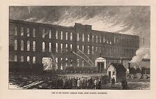 1873 LANCASHIRE - MANCHESTER - FIRE AT RAILWAY CARRIAGE WORKS, MILES PLATTING