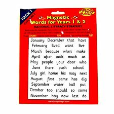 Magnetic High Frequency Words Pack 1 for Years 1 & 2 Age 5+ Fridge Magic NEW