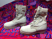 USA BELLVILLE DESERT MILITARY COMBAT BROWN LEATHER  BOOTS 7 M