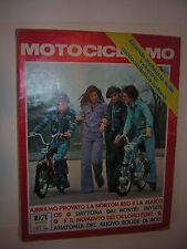 MOTOCICLISMO APRILE 1974 Guzzi T 850 Bultaco Alpina Testi 125