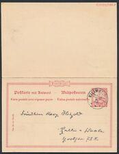 DOA 5 Pesa Yacht Doppelpostkarte Kilimatinde 1902 nach Halle (S16427)