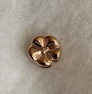 Pandora Reflexions Polished Flower Clip Charm 787897 14k Rose Gold Plate 925 $45