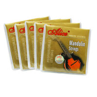 New 5 Sets of Mandolin Strings Steel & Silver-Plated Copper Wound Strings Set