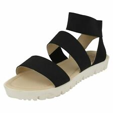Ladies Elasticated Flat Sandals *Down To Earth*