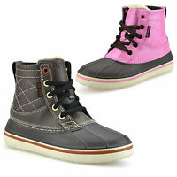 Boys Girls Kids New Crocs Leather Walking Hiking Ankle Boots Trainers Shoes Size