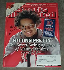 MANNY RAMIREZ SIGNED SPORTS ILLUSTRATED MAGAZINE JULY 5, 2004 RED SOX AUTO